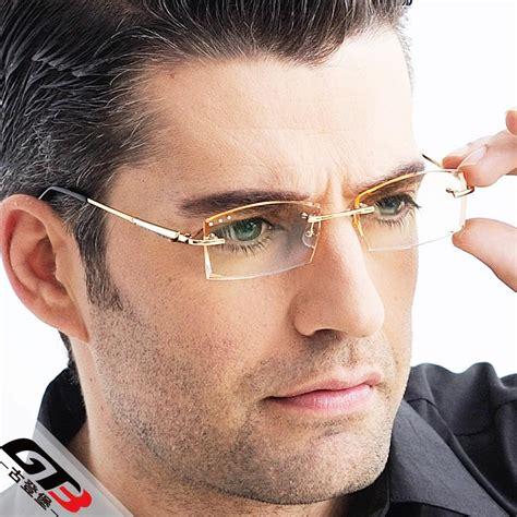 myopia glasses rimless titanium eyeglasses