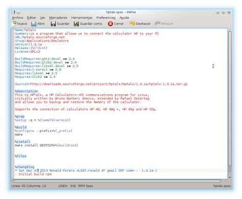 rpmbuild 8 build rpm package linux man page bitacora con mi primer rpm empaquetando hptalx ronald