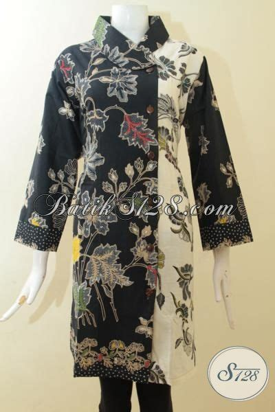 Dress Batik Jumbo Wanita 107pue dress batik jumbo proses kombinasi tulis pakaian batik