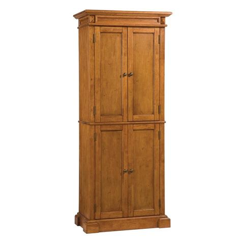Lowes Kitchen Pantry Cabinets Shop Home Styles 30 In W X 72 In H X 16 In D Distressed Oak Pantry Cabinet At Lowes