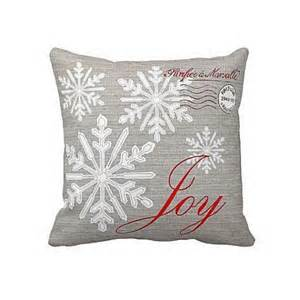 pillow grey and snowflake cotton and