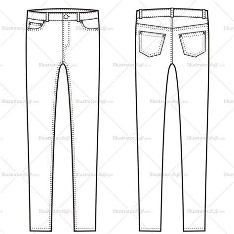 free jeans pattern illustrator women s skinny jean pants fashion flat template