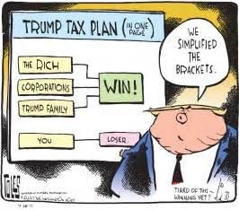 trump tax reform political cartoon u s president trump tax reform brackets