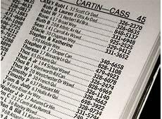 Old Phone Book Listings