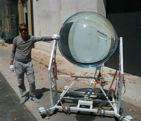 Solar Len by Spherical Glass Solar Energy Generator By Rawlemon