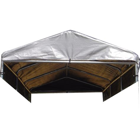 kennel covers shop lucky 180 in l x 60 in w plastic roof kit kennel cover at lowes
