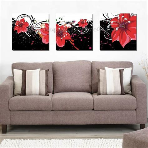flowers print painting on canvas dining room paintings