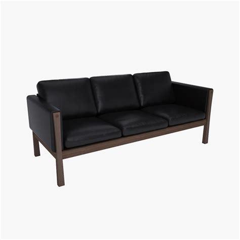 hans wegner sofa ch163 3ds hans wegner ch163 sofa