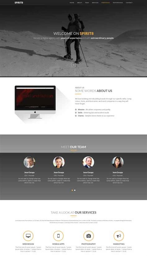 html bootstrap template 100 best free html5 website templates and themes