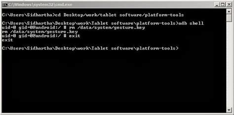 how to unlock android pattern using command prompt how to unlock an android tablet pc using command line