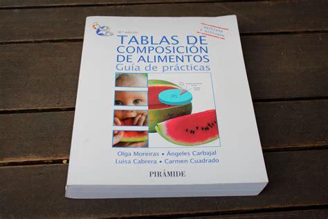 tabla nutricional de alimentos tablas de composicion de alimentos tablas de composici 243 n de alimentos