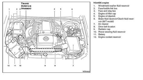motor repair manual 2006 nissan pathfinder security system 2006 nissan pathfinder engine diagram automotive parts diagram images