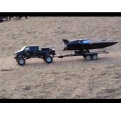 Scale 4x4 Rc Truck Gmc Topkick Towing And Launching A Speed Boat