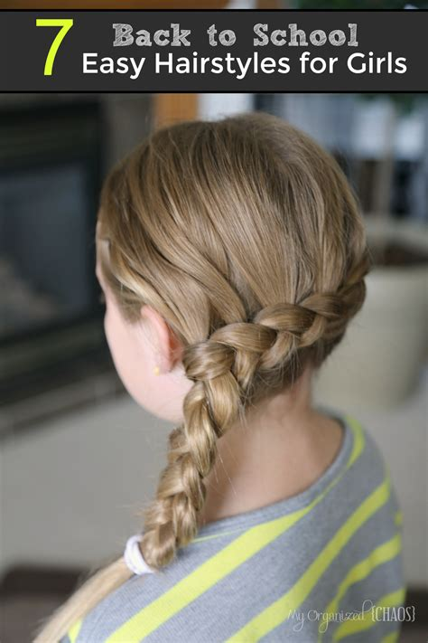 easy hairstyles for school 7 back to school easy hairstyles for girls