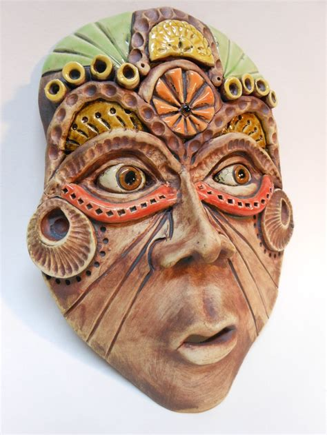 Topeng Mask Clay Who Am I Fiber 12 best mask arcade images on clay ceramic mask and faces