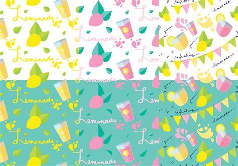 vector pattern set lemonade stand pattern set download free vector art