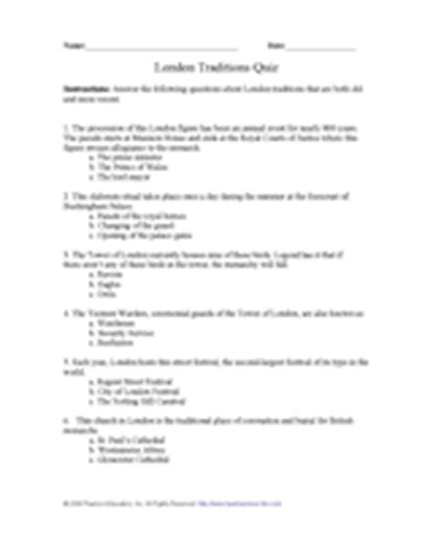 quiz questions london london traditions quiz printable activity for years 5 6