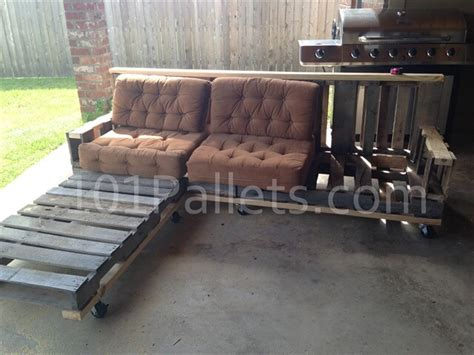 make a sofa out of pallets pallet sectional sofa tutorial 101 pallets