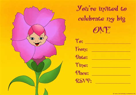 make birthday invitation card 20 1st birthday invitations free printable and