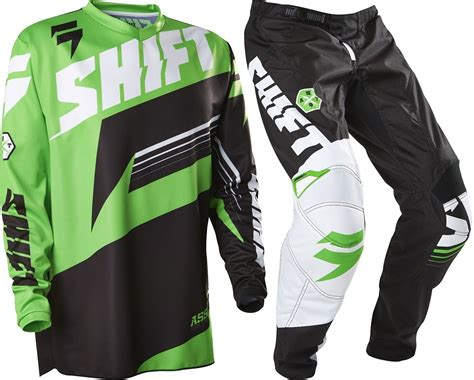 green motocross gear shift new 2016 mx assault green black jersey pants