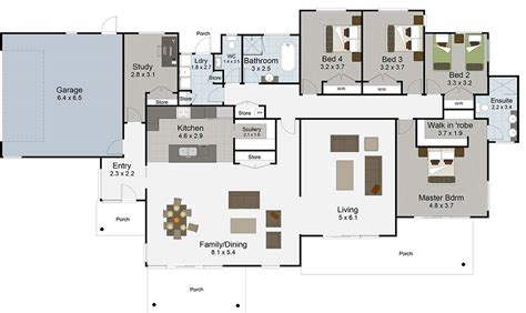 House Plans 5 Bedroom by Rangatikei Floor Render Bedroom House Plans Rangitikei
