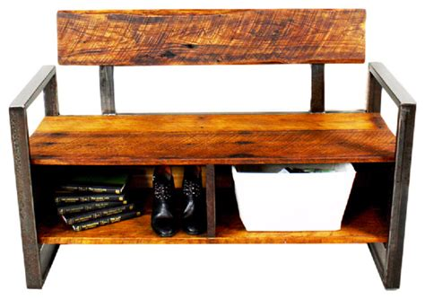 reclaimed wood storage bench reclaimed wood storage bench industrial accent and