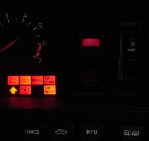 volvo 850 dash lights meanings srs light abs light on after dash swap volvo forums