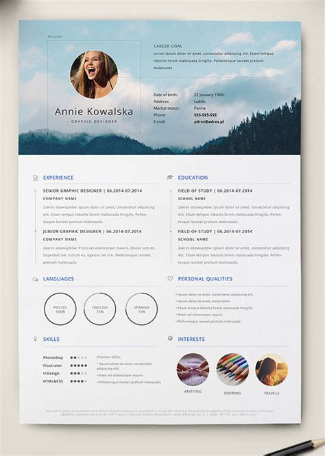 cv design illustrator template 10 best free resume cv templates in ai indesign word
