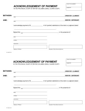 Payment Receipt Forms And Templates Fillable Printable Sles For Pdf Word Pdffiller Court Receipt Template