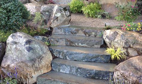 rock garden steps steps cording landscape design