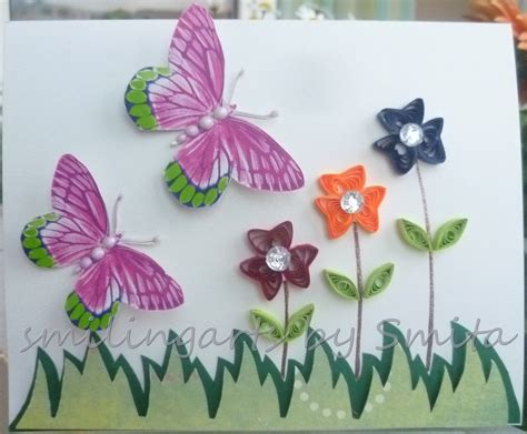 Craft Paper Designs - beautiful butterfly paper quilling designs creative