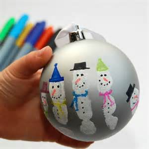 snowman handprint bauble kit by love those prints