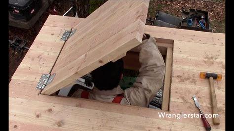 treehouse secret trap door  wranglerstar youtube