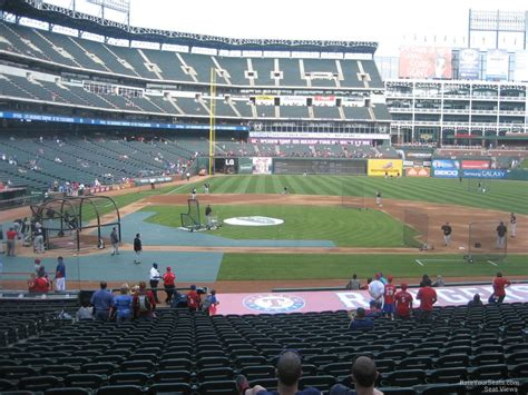 rangers sections globe life park section 32 rateyourseats com