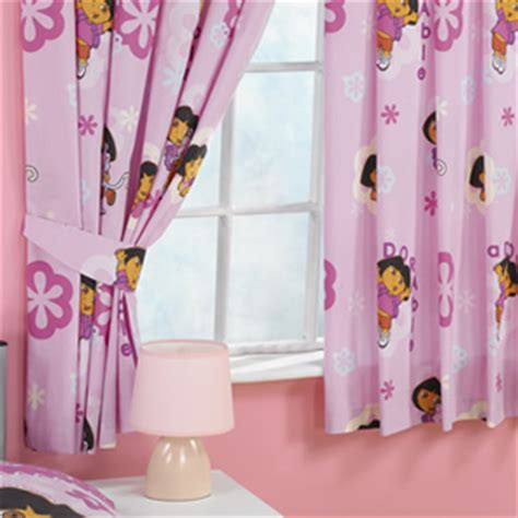 dora the explorer curtains dora the explorer dora pink flowers curtains 54 inch drop
