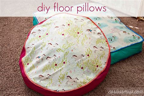Make Your Own Floor Pillows by Make Your Own Floor Pillows