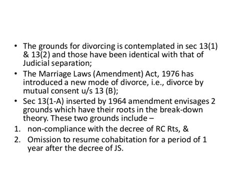 section 13 hindu marriage act divorce