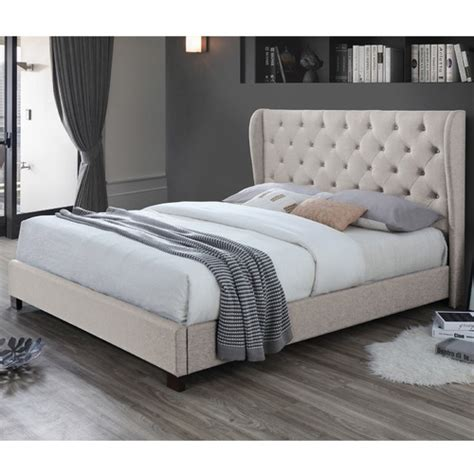 vic furniture oat white diamond queen bed frame reviews