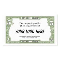 business cards coupon 5 coupon card business card template zazzle