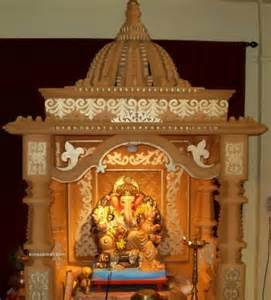 home mandir decoration thermocol ganpati mandir design joy studio design