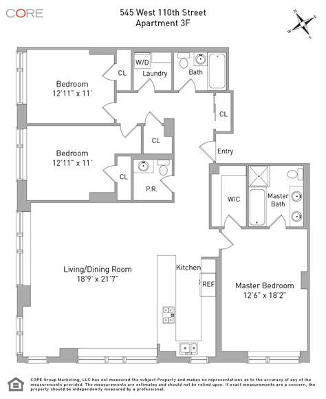 1 of 9 floor plan 3d 545 west 110th streeteasy 545 west 110th in morningside heights