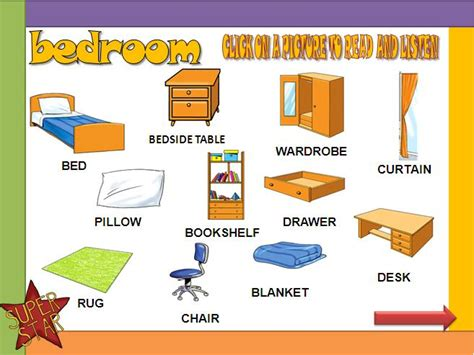 bedroom furniture vocabulary the bedroom powerpoint presentation