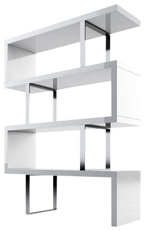 modern white bookshelves pearl bookcase white lacquer modern bookcases by inmod