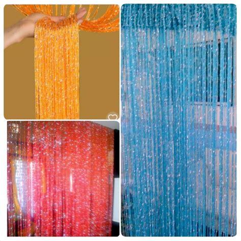 Benang D 27 Np B jual tirai benang glitter tirai sekat ruangan patricecollection