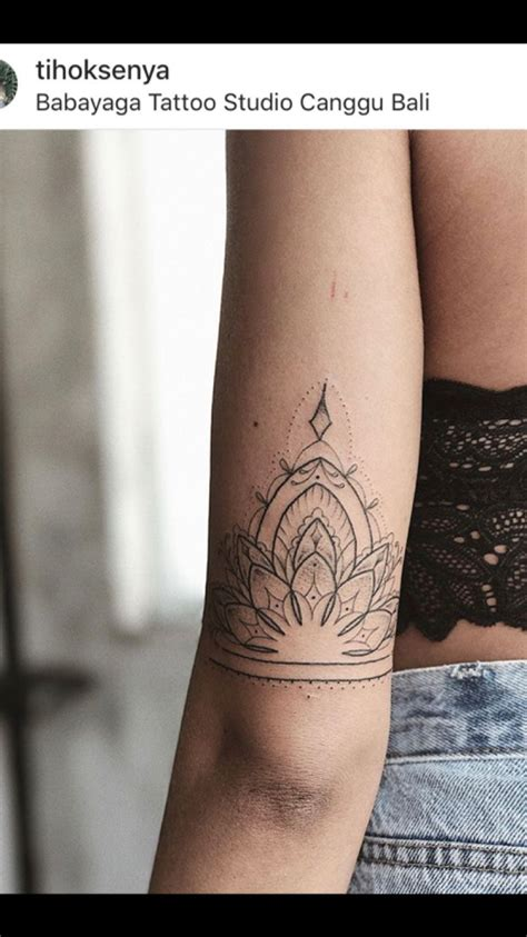 back forearm tattoos mandala back of arm i want