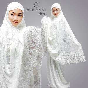 Mukena Putih Renda Mewah model mukena mewah warna putih pusat mukena premium elbirani