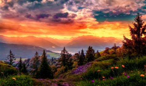 sunset mountain sunsets nature background wallpapers