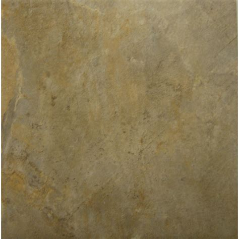 shop style selections camelot gold glazed porcelain indoor outdoor floor tile common 12 in x