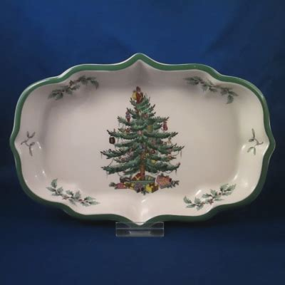 christmas tree candy dish spode tree green trim ogee dish 25 00 hoffman s patterns of the past