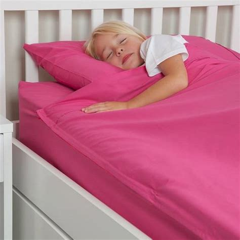 zipper bed twin size fuchsia cotton kids zip sheets zip bed
